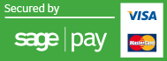 Payments on this website are secured by SagePay