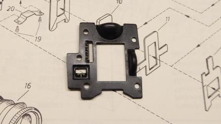 Rear Diopter sight, reference plate.