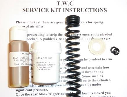 TX 200 Service Kit, with standard spring, seals, lube and grease.
