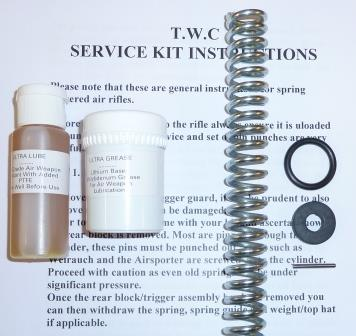 Airsporter Mk4-7 and S Service Kit with spring, seals, lube and grease