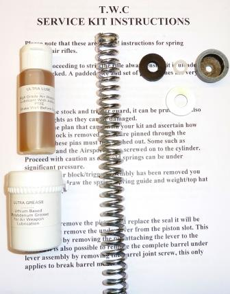 Meteor Service Kit comes with standard spring, seals, lube and grease.